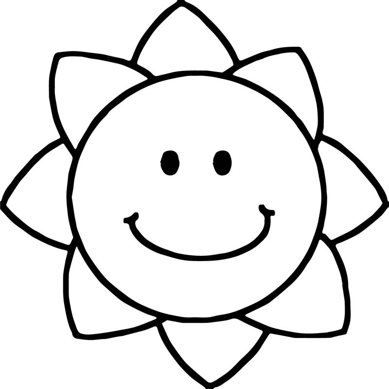 Summer Sun Star Coloring Page