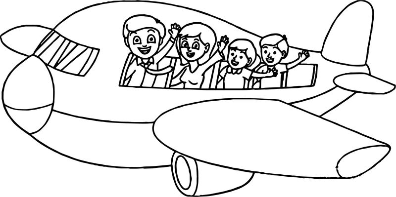 Summer Vacation Plane Coloring Page - Coloring Sheets
