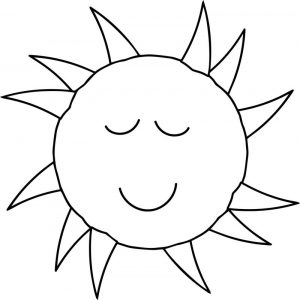 Sun smile coloring page