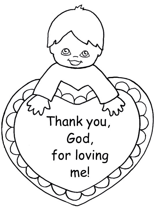 Sunday School Coloring Pages To Print