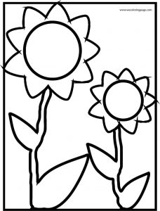 Sunflowers flower coloring page
