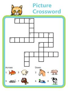 Super easy crossword puzzles animal