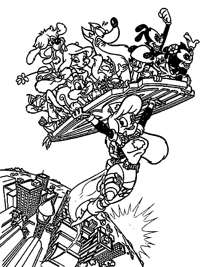 Super Hero Girl Animaniacs Coloring Page