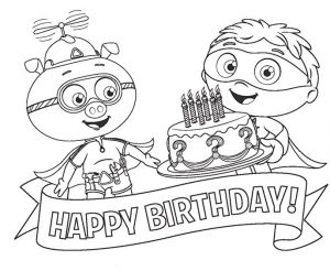Super why coloring pages happy birthday 001