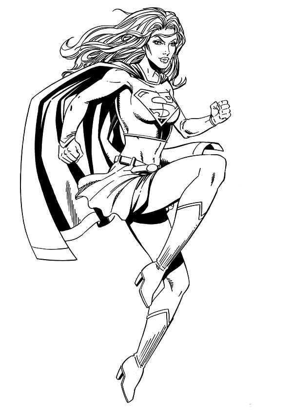 Supergirl Coloring Page 001