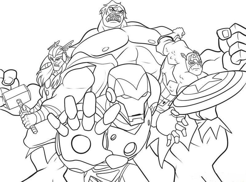 Superhero Coloring Pages Marvel Characters