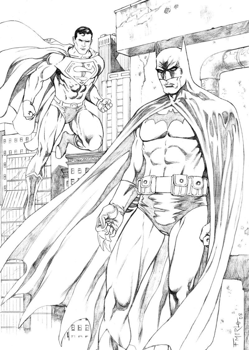 Superman And Batman Coloring Pages