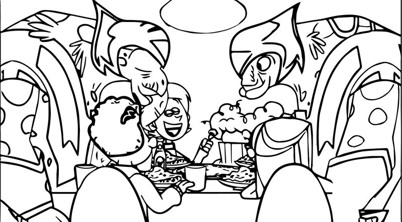 Supernoobs Creature Food Coloring Page
