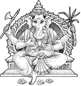 Surat buddhism ganesha elepant coloring pages