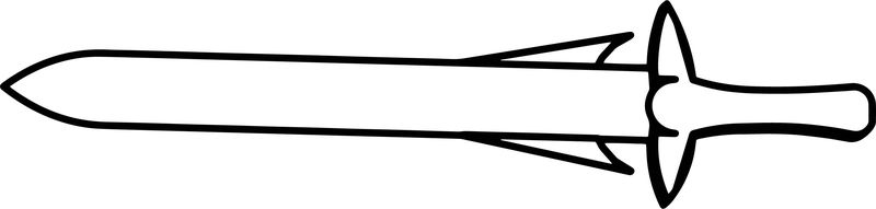 Sword Coloring Page