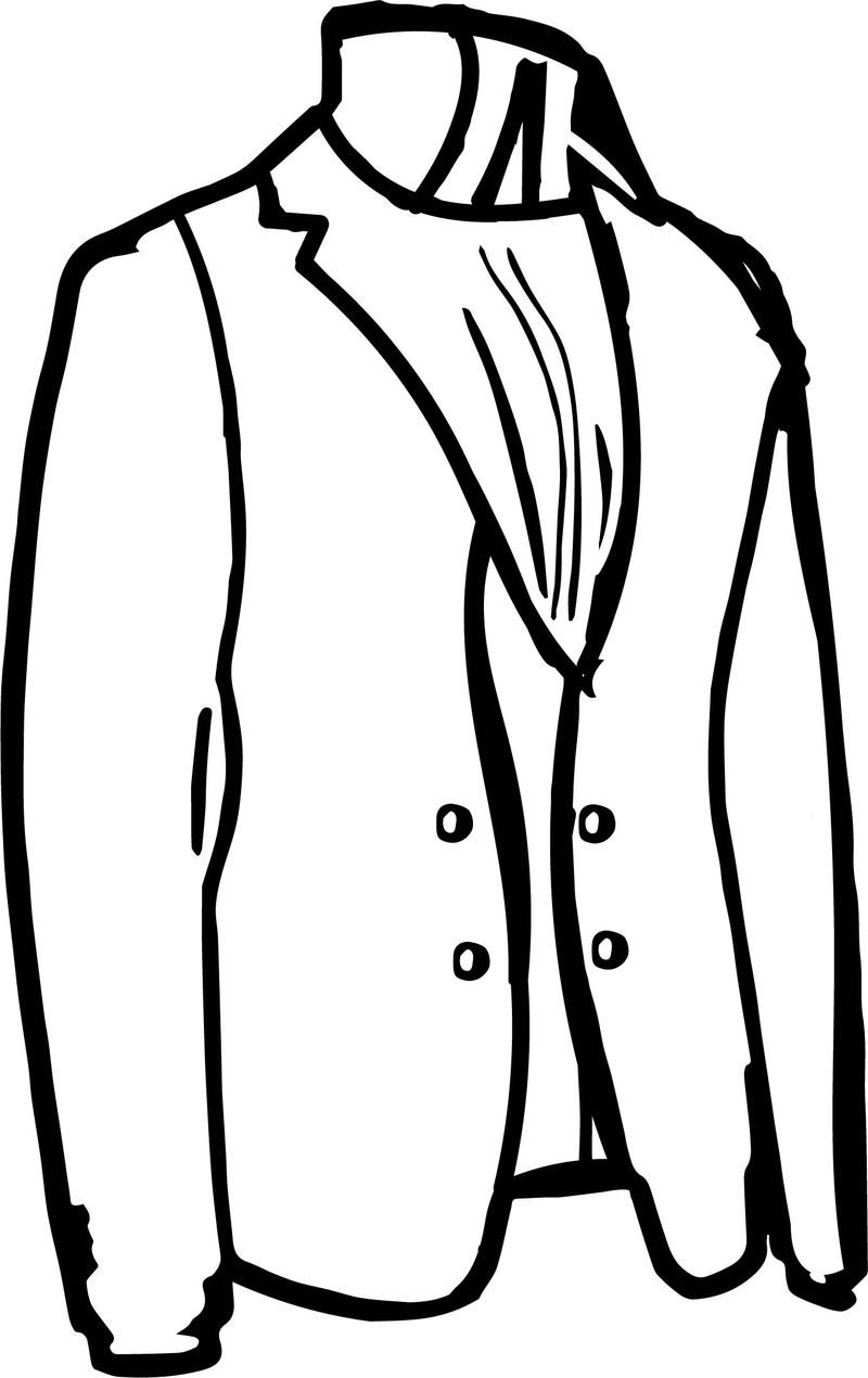 Tailor Jacket Coloring Page