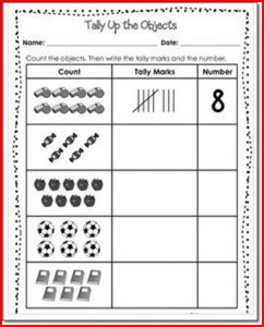 Tally marks worksheet object