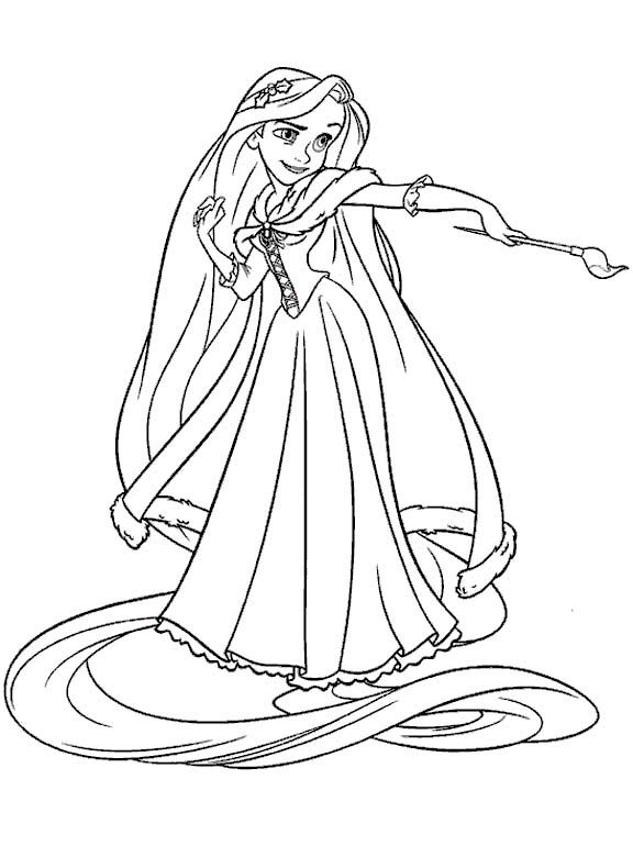 Tangle Free Rapunzel Coloring Pages