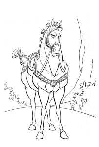 Tangled printable the horse