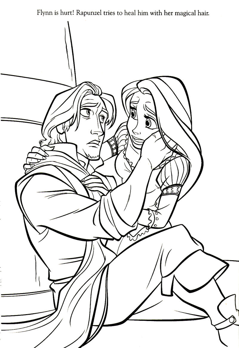 Tangled Rapunzel Coloring Page