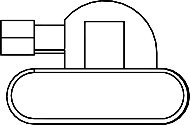 Tank Cartoon Side Coloring Page
