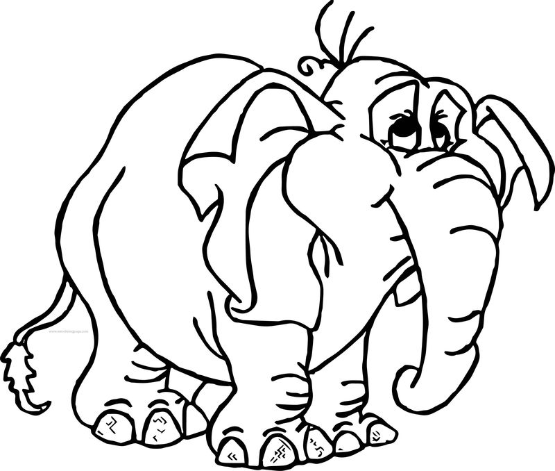 Tantor Baby Elephant Coloring Page - Coloring Sheets