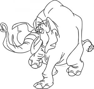 Tantor elephant danger walking coloring page