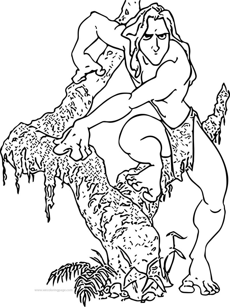 Tarzan Tree Coloring Page