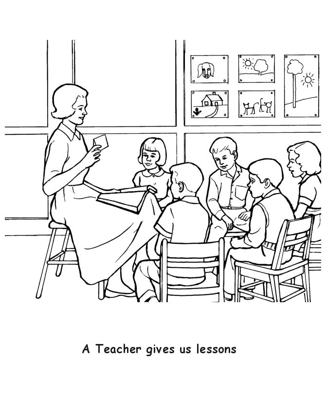 Teacher Coloring Pages Free - Coloring Sheets