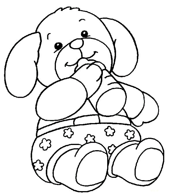 Teddy Bear Coloring Pages For Preschoolers