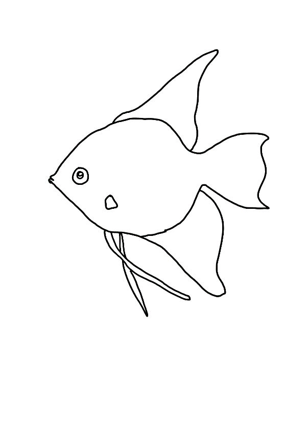 Templates For Kids To Color Fish 001