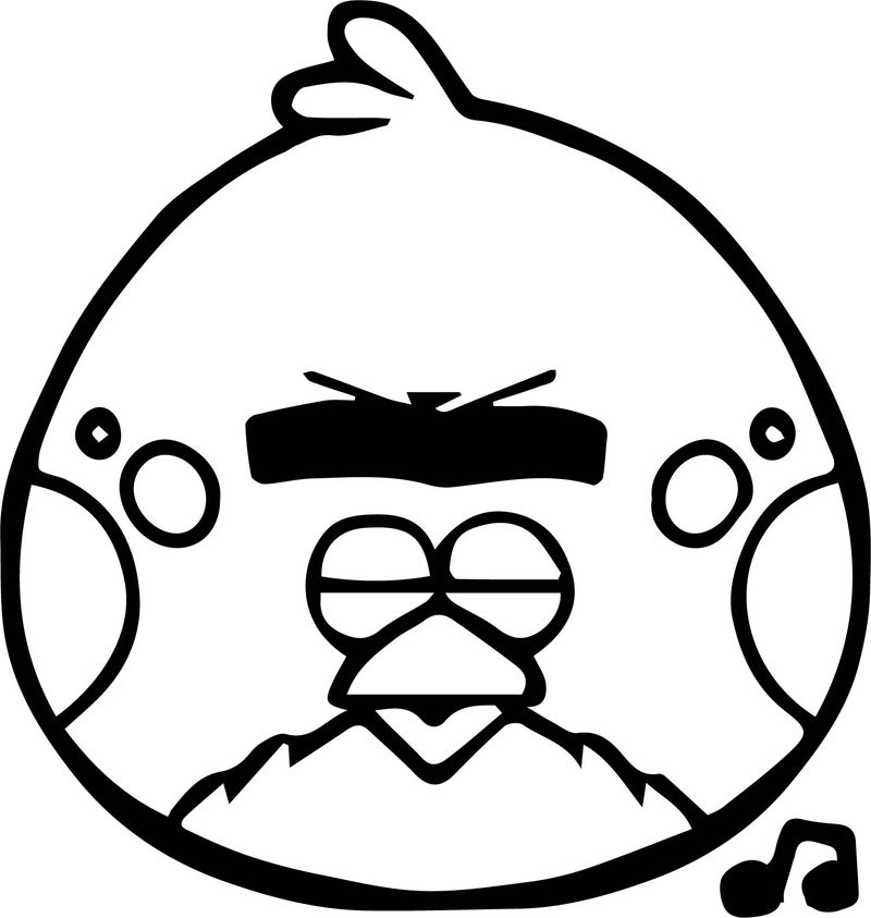 Terrence Angry Birds Coloring Page