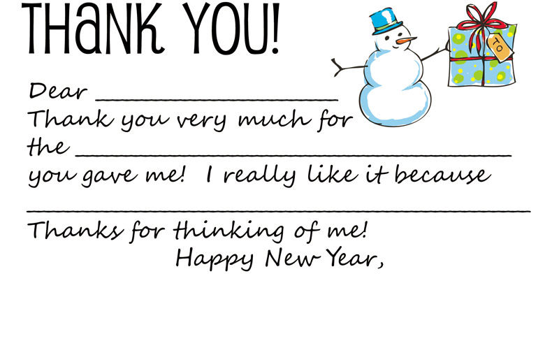 Thank You Note Template For A Gift 1 001