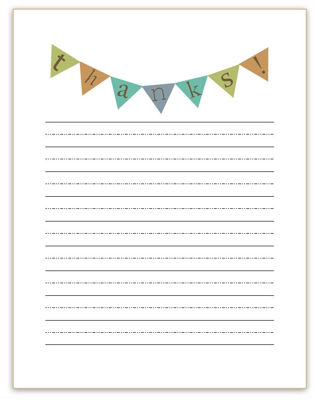 Thank You Note Templates Blank