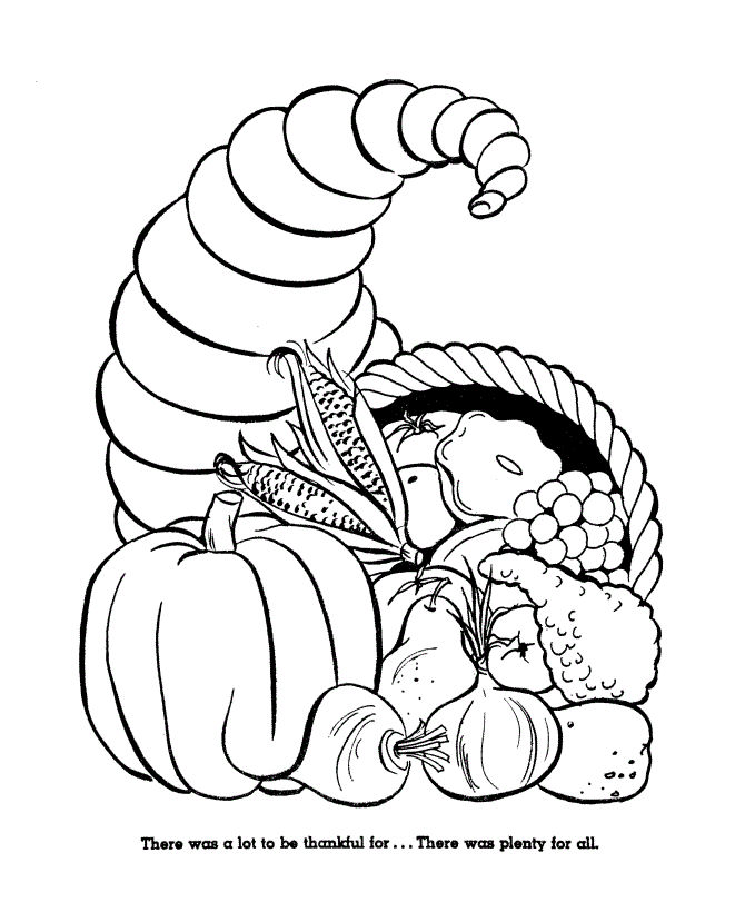 Thanksgiving Food Coloring Pages 001