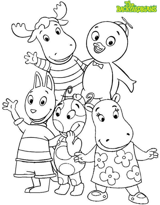 The Backyardigans Characters Coloring Pages
