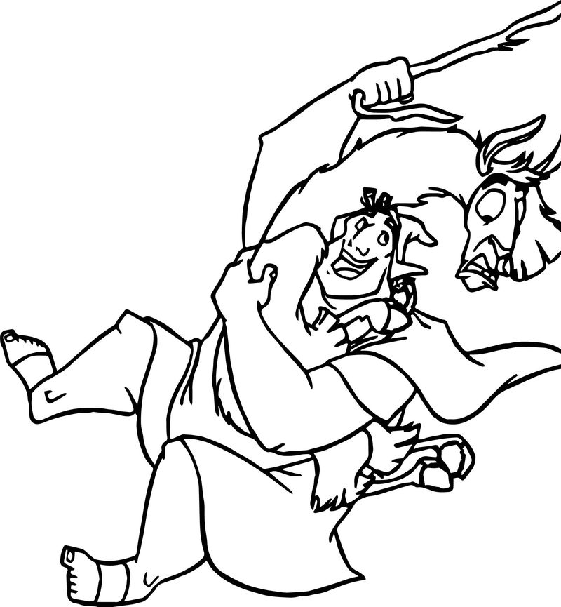 The Emperor New Groove Rope Camel Disney Coloring Pages
