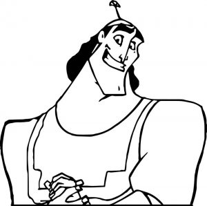 The emperor new groove smile man disney coloring pages