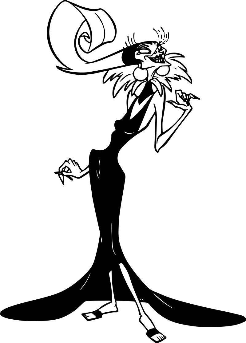 The Emperor New Groove Yzma Disney Pose Coloring Pages