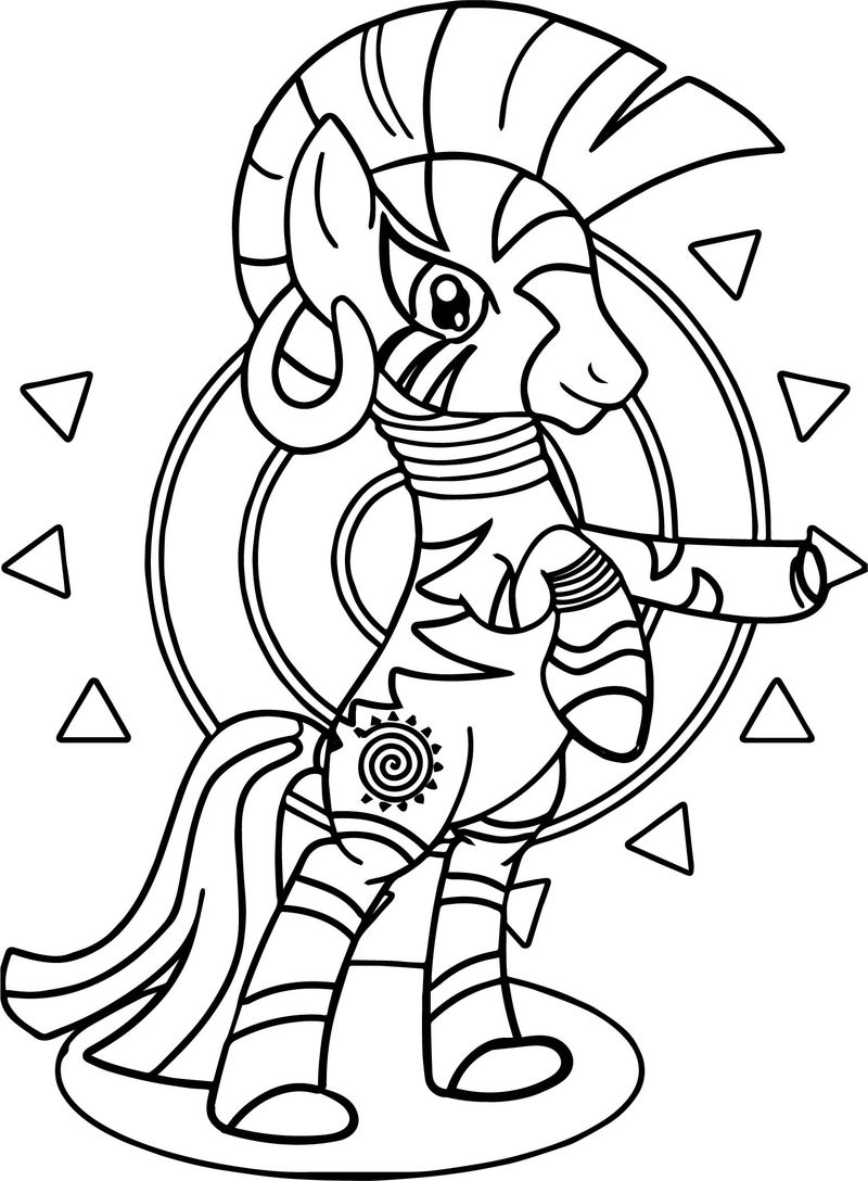The Enchantress Zecora Coloring Page