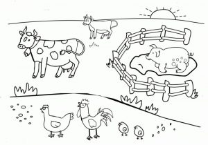 The farm animal coloring pages