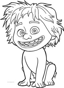 The good dinosaur disney spot boy cartoon coloring pages