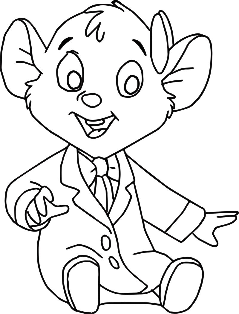 The Great Mouse Detective Oli Cartoon Coloring Pages