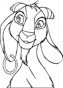 The hunchback of notre dame djali face coloring page