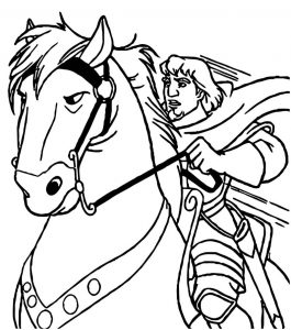 The hunchback of notre dame hb horse 2 coloring page
