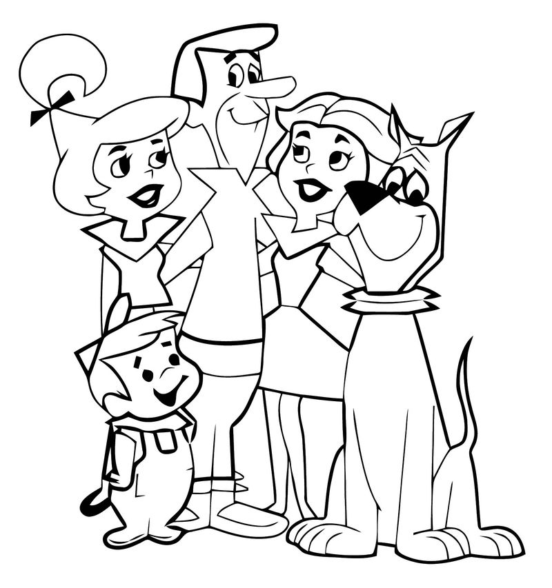 The Jetsons Family Coloring Page