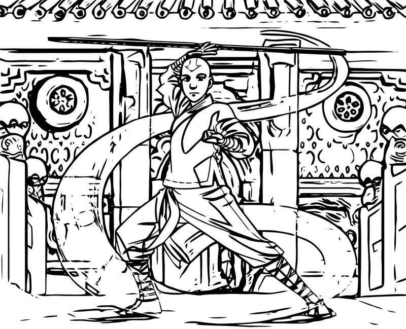 The Last Airbender Blue Ten Avatar Aang Coloring Page