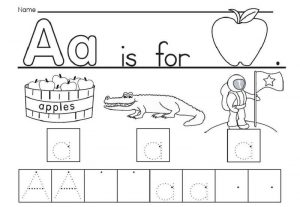 The letter a worksheets 001