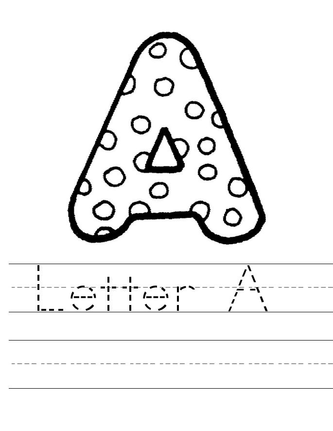The Letter A Worksheets Printable 001
