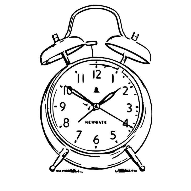 The New Covent Garden Alarm Clock Free Printable Ov Cartoonized Free Printable Coloring Page