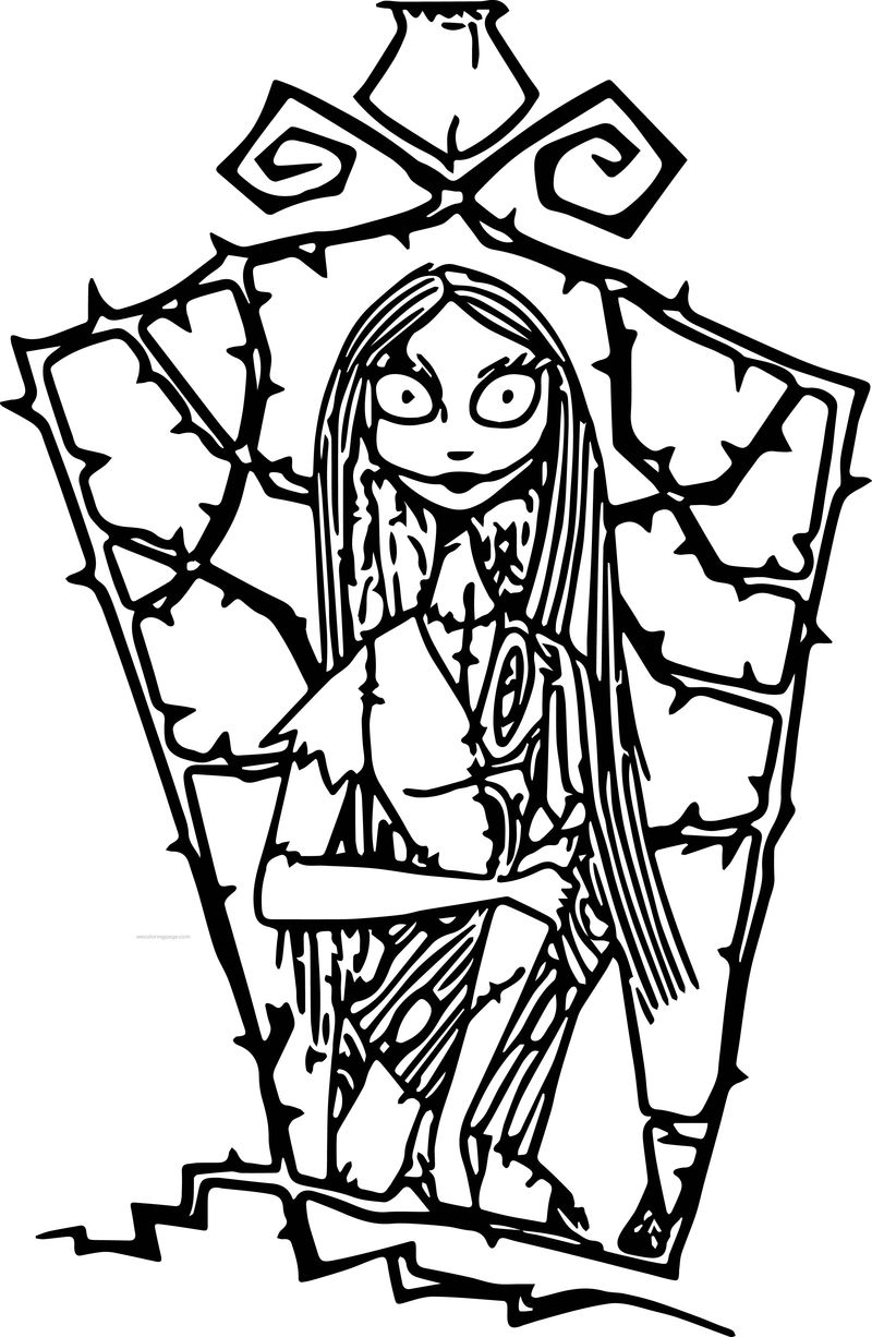 The Nightmare Before Christmas Sally 4 Cartoon Coloring Page
