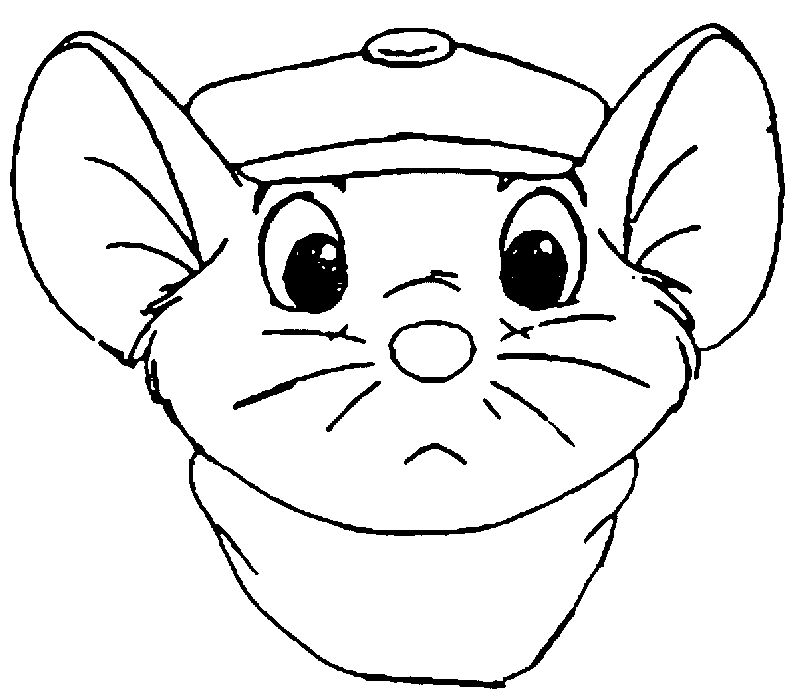 The Rescuers Bernard Front Face Coloring Pages