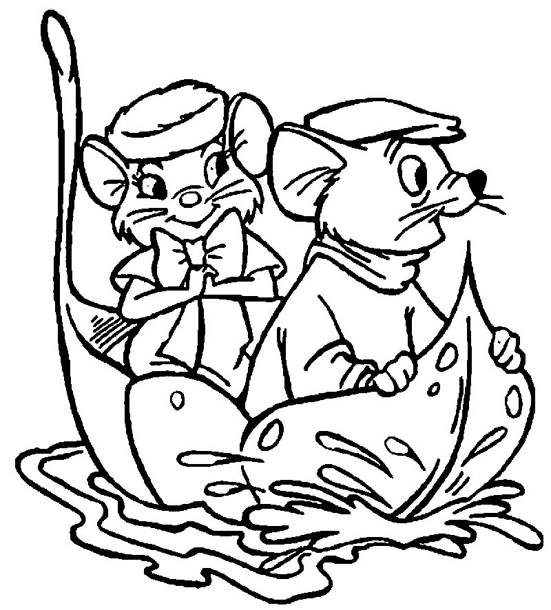 The Rescuers On Leaf Coloring Pages