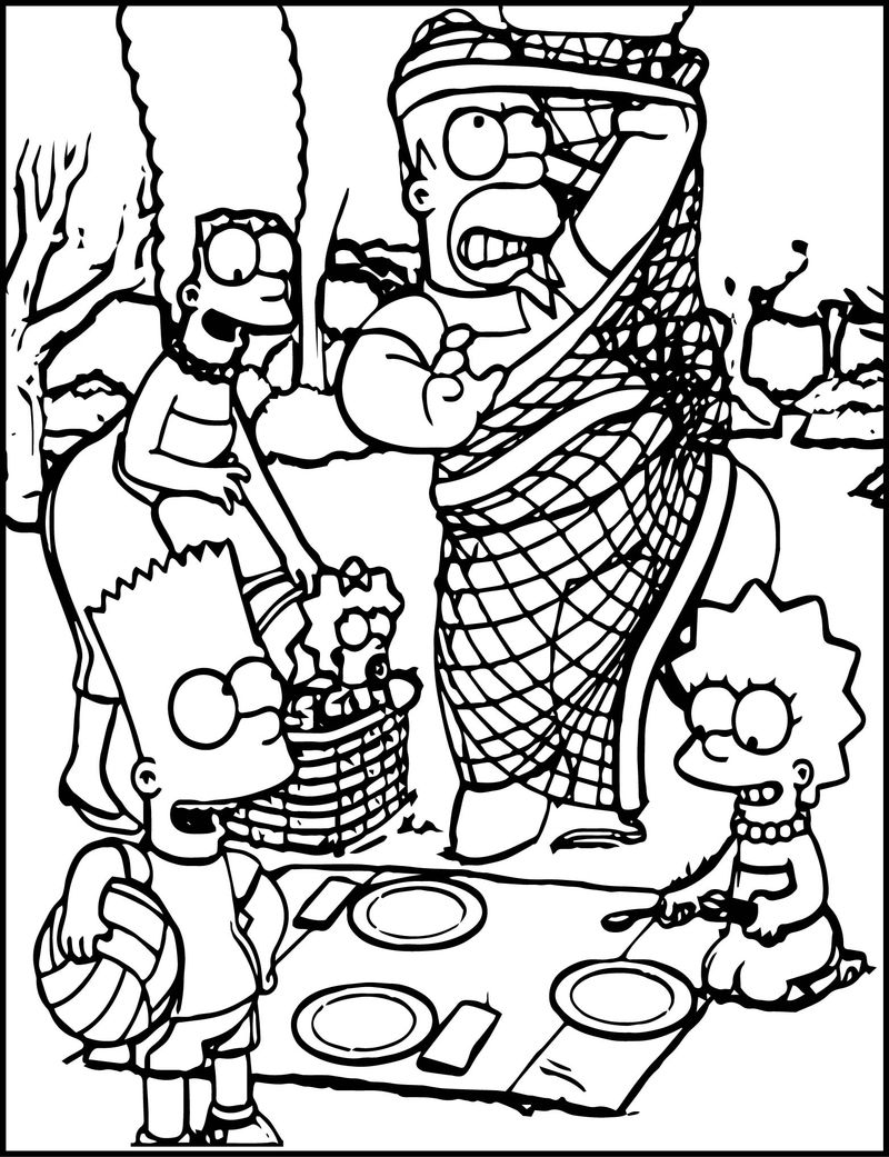 The Simpson Wallpaper Image Picture Coloring Page