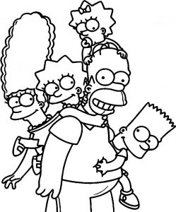 The simpsons wallpaper full hd coloring page